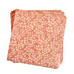 AURELIE  Set de 20 serviettes rose Larg. 25 x Long. 25 cm