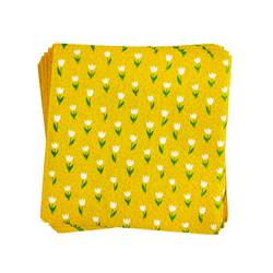 MINITULPS Set de 20 serviettes jaune Larg. 25 x Long. 25 cm