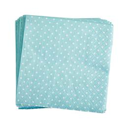 LULU Set de 20 serviettes bleu Larg. 25 x Long. 25 cm