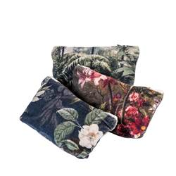 BOTANICAL Trousse de toilette 3 motifs multicolore H 6 x Larg. 15 x Long. 30 cm