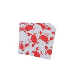 OH CRAB Set de 20 serviettes multicolore Larg. 33 x Long. 33 cm