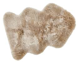 FUR MIX Tapis beige Larg. 60 x Long. 90 cm