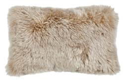 FUR MIX Coussin beige Larg. 30 x Long. 50 cm