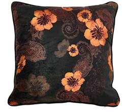 GEMMA Coussin orange Larg. 45 x Long. 45 cm