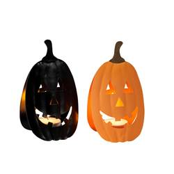 HALLOWEEN Partylight 2 couleurs noir, orange H 15 x Larg. 9 x P 6,5 cm