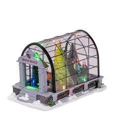 GREEN HOUSE Décoration de Noël multicolore H 15 x Larg. 23 x P 14 cm