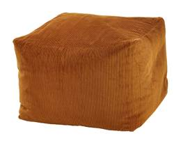 CAMBRIDGE Pouf camel H 35 x Larg. 45 x Long. 45 cm