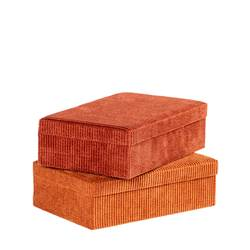 RIB Box 2 Farben Braun, Orange H 7,5 x B 24 x T 16 cm