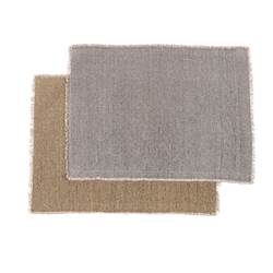 TUCKER Set de table 2 couleurs beige, gris clair Larg. 33 x Long. 48 cm