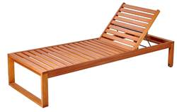 ROCKET Chaise longue naturel H 81 x Larg. 65 x Long. 187,7 cm