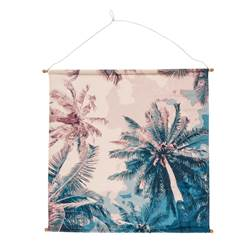 PALM BEACH Wanddecoratie multicolor H 80 x B 80 cm