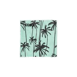 MINTY PALMS Set de 20 serviettes vert Larg. 33 x Long. 33 cm