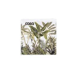 JUNGLE TREES Set van 20 servetten groen B 33 x L 33 cm