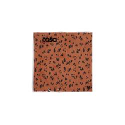 CAMOUFLAGE Set de 20 serviettes orange Larg. 33 x Long. 33 cm