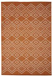 PET Tapis orange Larg. 140 x Long. 200 cm