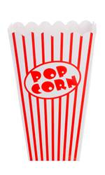 CINEMA Gobelet pop-corn set de 8 blanc, rouge H 16 x Larg. 10 x P 10 cm