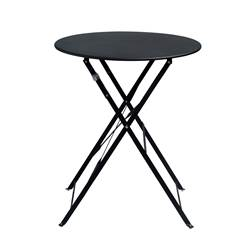 IMPERIAL Table pliante rond noir H 71 cm; Ø 60 cm