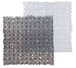 STONE  Tapis de douche 2 couleurs gris, transparent Larg. 52 x Long. 52 cm