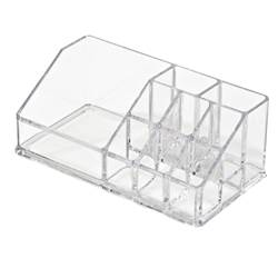 COSMETIC Make-up-Organizer Transparent H 9 x B 17.5 x T 6.5 cm